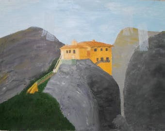 transfer station in mountains landscape