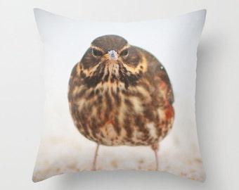 Bird pillow, bird cushion, white pillow, white cushion, bird decor, throw pillow, pillow cover,photography pillow, photography cover, animal