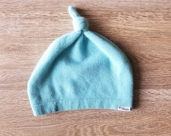 Best TODDLER Cashmere Beanie // 1-4 years // Soft Teal // Upcycled Cashmere sweater // Kid Beanie // Knotted Beanie
