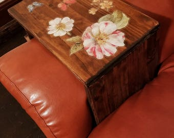 Sofa Tray Table, Wooden Table Tray, Arm Rest, TV Tray Table, Sofa Arm Table, Couch Arm Table,  Armrest Table, Sofa Arm Tray, Couch Tray, AT1