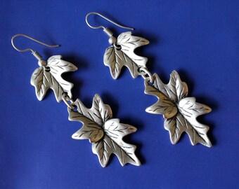 Leaf Earrings, Ethnic Earrings, Boho Earrings, Bohemian Earrings, Leaves Earrings, Antique Silver Earrings, Tribal Earrings, Kuchi Earrings