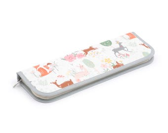 Knitting Needle Case, Knitting Pin Case, Knitting Needle Holder, Knitting Pin Holder, Deer Knitting Needle Case, Fox Knitting Needle Case