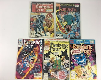 Lot of 15 Comic Books MARVEL Fantastic Four Annuals Unlimited Unplugged C9 1984