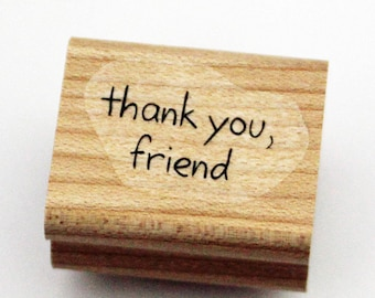 Thank You, Friend Rubber Stamp retired from Stampin Up