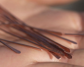 Handmade Copper Paddle Headpins 20 gauge - 20 pieces