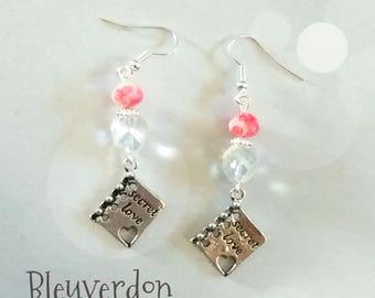 Dangle earrings secret love