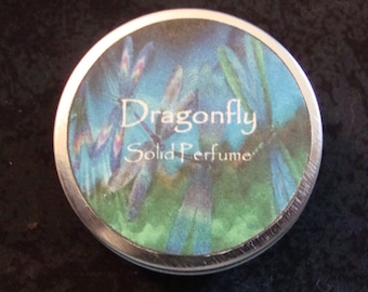Dragonfly Solid Perfume, Solid Perfume, Patchouli essential oil, Perfume, Dragonfly, Natural Perfume, Valentine's Day Gift, Gifts for Her
