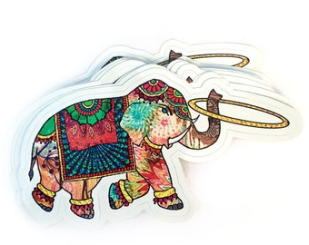 Elephant Hooper Vinyl Sticker