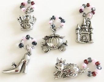 Cinderella Stitch Markers (Set of 5)