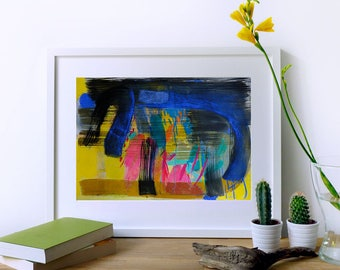 Modern Abstract Expressionist Painting. Original Acrylic Painting. Modern Wall Decor. Original Expressionist Artwork for Living Room