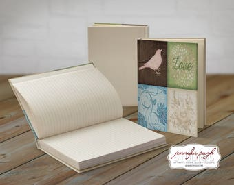 Love Bird 5x7 Hardback Bound Journal -Inspirational, Word Art