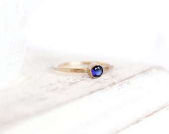 Sapphire Ring - September Birthstone Ring - 14k Gold Fill or Sterling Silver - Stacking Ring - Simple Ring - Sapphire Jewelry - Blue Ring