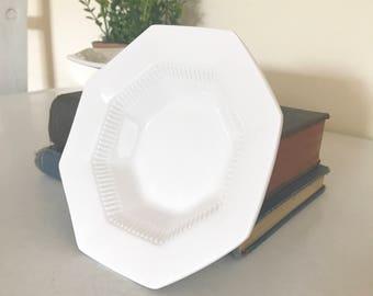 Vintage White Ironstone Bowls / Set of 10 Small Ironstone Bowls