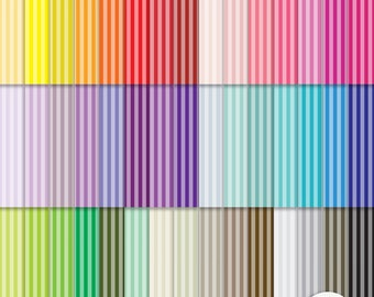 Digital Paper - Tinted Stripes -  Rainbow Scrapbooking Commercial Personal  G7154