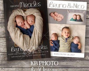 Twin Birth Announcement