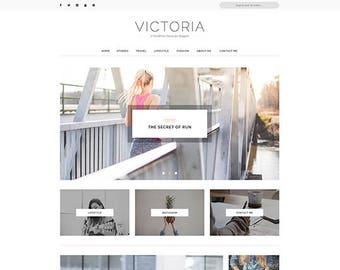 Victoria - A Responsive WordPress Blog Theme - Feminine Wordpress Theme - Blog Template - Fashion Template - Wordpress Blog Theme