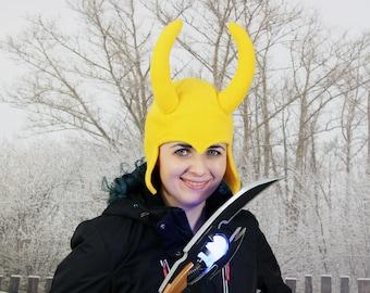 Loki Hat – Loki Helmet Hat – Fleece Loki Hat – Adult Loki Hat – Adult Size Loki Hat – Fleece Loki Helmet – Loki Adult Hat – Loki Winter Hat