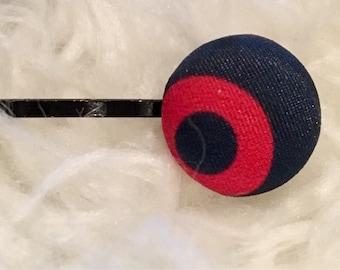Fabric button mini donut satin phish hair pins