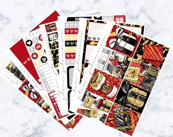 Black Friday Luxe Sticker Kit (Glam Planner Stickers for Erin Condren Life Planner)