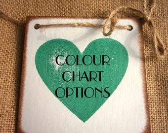 Colour Chart Options for chipboard banners / this listing is not for sale/ information only/ do not purchase this please