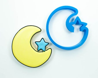 Moon with Star Cookie Cutter