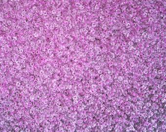 Vintage Venetian Seed Bead Colorlined Pink / Purple 10/0 - SB-54-R-07