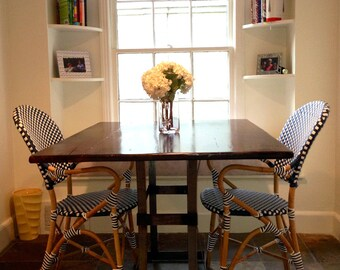Reclaimed Wood Dining Table with Contemporary Metal Base