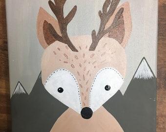 Little deer nursery decor
