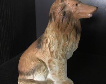 Vintage Collie Dog figurine bisque