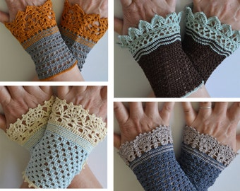 AUSTEN, Crochet wristlet patterns, set of 4, pdf