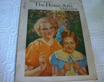 1935 Needlecraft The Home Arts Magazine, 30's Fashion and Sewing