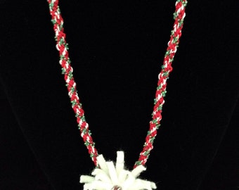 Christmas Kumihimo Necklace