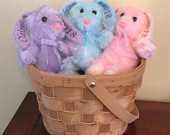 Personalized Easter, Personalized Bunny, Easter Bunny, Easter Plush, Plush Bunny, Easter Basket Bunny, Baby's 1st Easter, First Easter