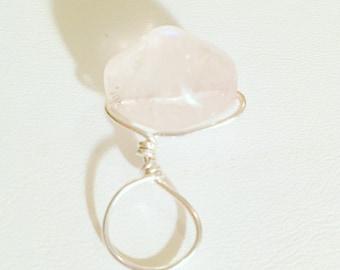 Sterling Silver Loc Jewelry Rose Quartz Dreadlock Jewelry Dread Bead Loc Jewel Dreadlock Jewel