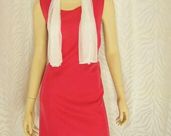 Sleeveless Fuchsia Dress
