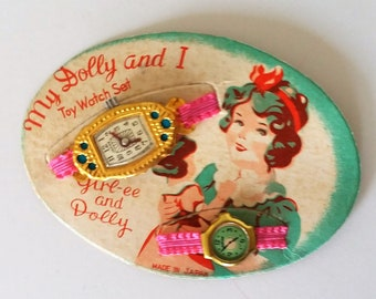 Vintage My Dolly and I Girl-ee and Dolly Toy Watch Set
