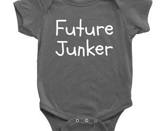 Junking Baby One-piece - Antiquing or Thrifting Baby Shirt - Future Junker - Junker's Baby Gift Idea - Many Sizes And Colors