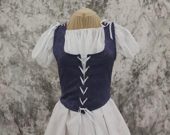Periwinkle Renaissance Costume-Halloween Costume-Medieval Dress-LARP-Ren Fair-Steampunk-SCA-Adult Costume-Medieval Fantasy Dress-Item #272