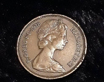1978 Uk Circulated 1 New Penny Coin