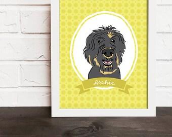 custom pet portrait, dog portrait custom, custom dog portrait, personalized pet, pet keepsake, modern pet art, pet owner gift, pet memorial