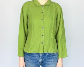 Grass/Army Linen Shirt (S/M)