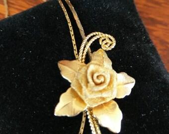 Vintage Rose Slide Necklace