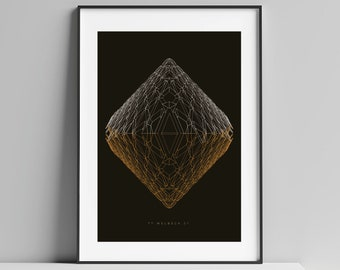Brutalist London - Welbeck Street Car Park Illustrated Poster Art Print - Matte and Giclee prints. Architecture Prints of London. Wall art.