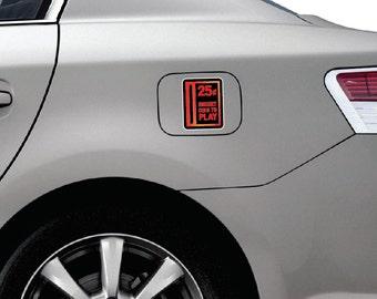 Arcade Coin Slot Sticker - Car, Bumper Sticker