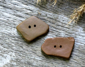Natural buttons pebble beach buttons pebble buttons brown coat buttons for coat jacket buttons for jacket natural stone buttons brown button