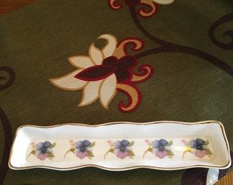 Vintage crown England Bone China Jewelry Tray