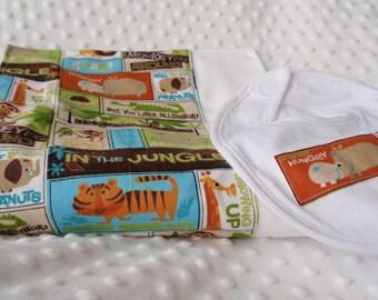 Jungle Animals Burp Cloth & Bib Set
