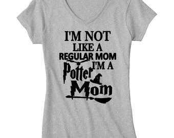 Im not like a regualr mom im a potter mom--Harry Potter-Family shirts-Harry potter shirt