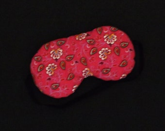 Sleep Mask - Comes as Shown in Pink Paisley - Handmade - Fits Kids to Adults
