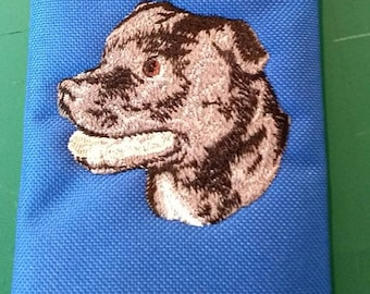 Embroidered Staffordshire Bull Terrier (staffie)  Wallet